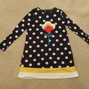 Mini Boden applique Navy dress sz 9/10